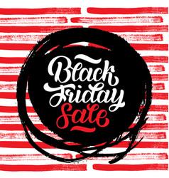 Black friday sale handmade lettering calligraphy vector