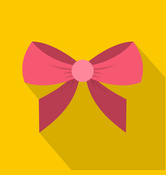 Bow icon flat style vector
