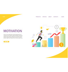 Business motivation landing page website vector