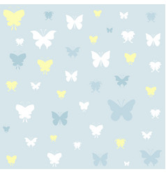 Butterfly icons on blue background vector
