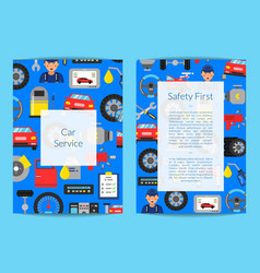 Card flyer or brochure template for auto vector