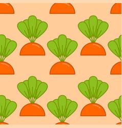 carrot grow seamless pattern vegetable on garden vector image