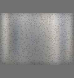 Circuit data digital pattern on a metal background vector