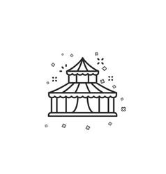 Circus line icon amusement park sign vector
