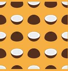 coconut seamless pattern flat design vector image