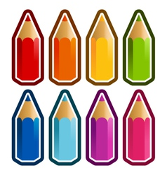 Colored Crayons vector