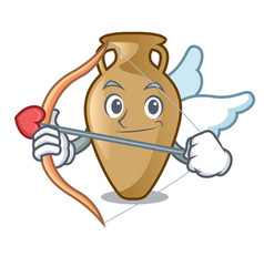 Cupid amphora character cartoon style vector