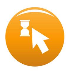cursor wait icon orange vector image