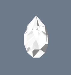 Diamond gem shining logo drop shaped vector