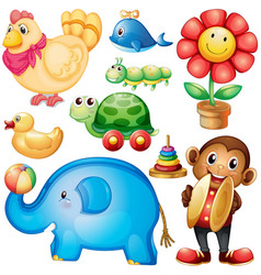 different designs of toys vector image