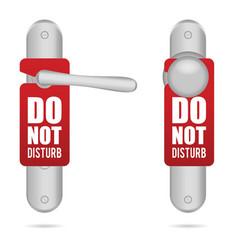 Do not disturb design on door in silver vector