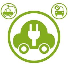 Electric car simple icon vector