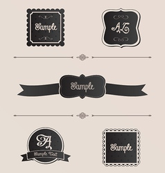 Fancy Frames vector image