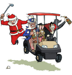 festive golf party vector image