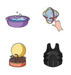 Fishing cleaning and other web icon in cartoon vector