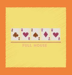 Flat shading style icon full house vector