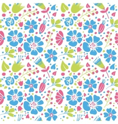 Flowers and paisley vector