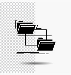 folder file management move copy glyph icon on vector image