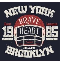 Football athletic t-shirt design vector