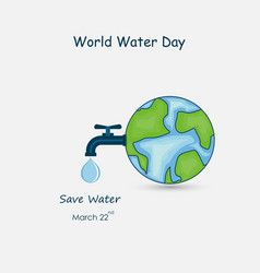 globewater drop and water tap iconglobe vector image