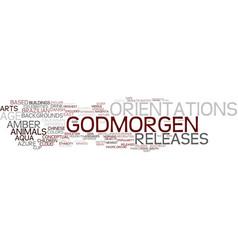 godmorgen word cloud concept vector image