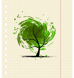 Grunge tree for your design vector image