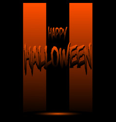 happy halloween on the background of stripes vector image