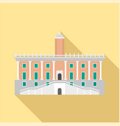 historical european building in city icon flat vector image