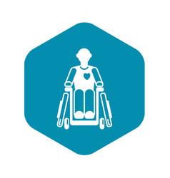 Invalid man wheelchair icon simple style vector