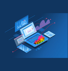 Investment planning isometric icon vector