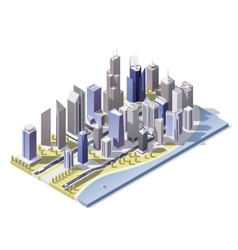 Isometric city downtown vector
