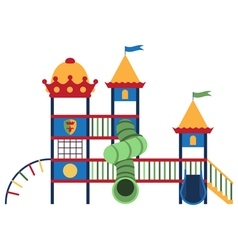 Kids playground and related items vector image vector image