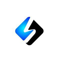letter s modern square vector image