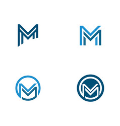 m letter logo template vector image
