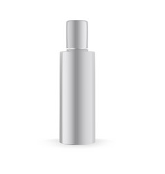 matte cosmetic bottle mock up vector image