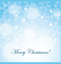 merry christmas snow snowflake blurred background vector image