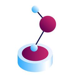 molecule statue icon isometric style vector image