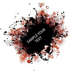 music grunge frame red vector image