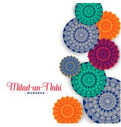 Muslim eid milad un nabi festival greeting design vector