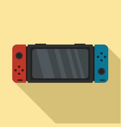 Nintendo switch icon flat style vector