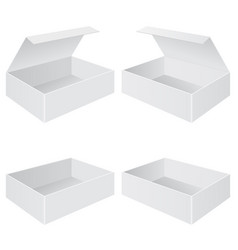 open boxes with and without lid vector image