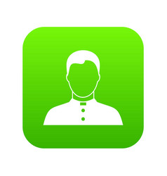 pastor icon digital green vector image