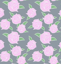 Pink Roses seamless patern Flowers in pastel vector