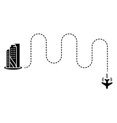 plane with track in flat style vector image