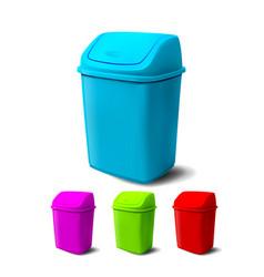 plastic bucket bucketful different colors vector image