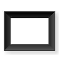 Realistic black frame vector