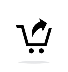 Remove from shopping cart simple icon on white vector image