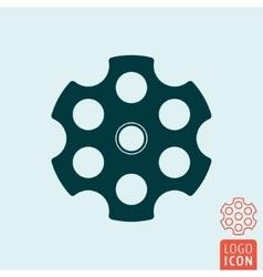 Revolver cylinder icon vector