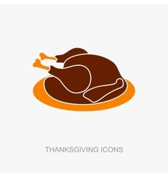 Roasted chicken or Turkey ready for Thanksgiving vector