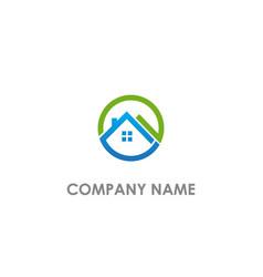 round rorealty company logo vector image